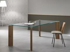 Tavolo da pranzo rettangolare in vetro CAN CAN | Tavolo rettangolare -