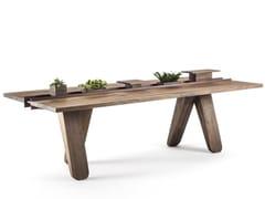 Tavolo rettangolare in legno massello CANAL   Tavolo in legno massello -