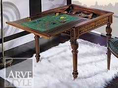Tavolo da backgammon quadrato in legno massello CANALETTO | Tavolo da backgammon - Canaletto