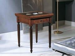 Tavolo da poker quadrato in legno massello CANALETTO | Tavolo da poker - Canaletto