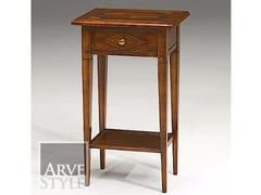 Tavolino di servizio rettangolare in legno massello CANALETTO | Tavolino in legno massello - Canaletto