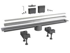 Scarico per doccia in acciaio inoxCANALISSIMA 6895AC80S - BONOMINI