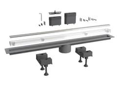 Scarico per doccia in acciaio inoxCANALISSIMA 6895MX80S - BONOMINI