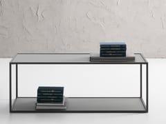 Tavolino da caffè rettangolare in vetro temperatoCANDEM   Tavolino rettangolare - IDEAS GROUP
