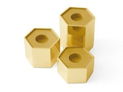 Portacandele in ottone CANDLE HOLDERS HEXAGONAL - GALLOTTI&RADICE