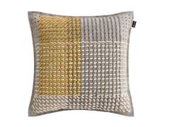 Cuscino quadrato in tessuto CANEVAS GEO GREY | Cuscino quadrato - Canevas Geo