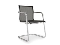 Sedia a sbalzo con braccioli ALUMINIA | Sedia a sbalzo - Aluminia