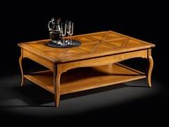 Tavolino rettangolare in rovere con portarivisteCAPRICCI   Tavolino in rovere - PRESTIGE
