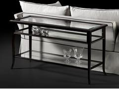 Consolle rettangolare in legno e vetroCAPRICCI | Consolle in legno e vetro - PRESTIGE