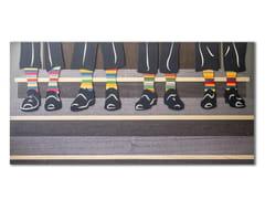 Quadro in legno intarsiato con bassorilievo CAPRICCIO SOCKS - CAPRICCIO