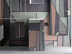 Lavabo freestanding rettangolare in Solid SurfaceTOTEM CAPSULE N.1 105 - CERASA