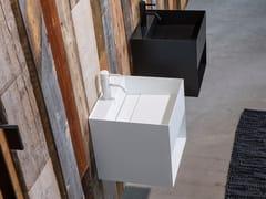 Lavabo sospeso in acciaio inox con porta asciugamaniCARA - SANWA COMPANY