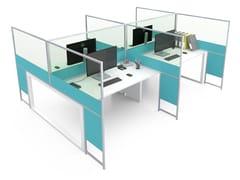 Pannello divisorio da scrivania in alluminio e vetroCARING ASTERISCO IN B - ESTEL GROUP
