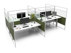 Pannello divisorio da scrivania in alluminio e vetroCARING EVO HP A - ESTEL GROUP