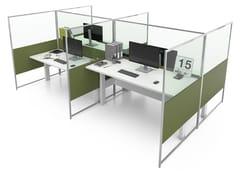 Pannello divisorio da scrivania in alluminio e vetroCARING EVO HP B - ESTEL GROUP