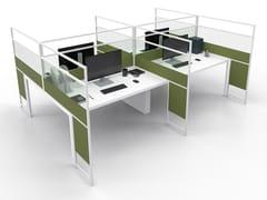 Pannello divisorio da scrivania in alluminio e vetroCARING MORE A - ESTEL GROUP