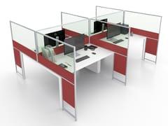 Pannello divisorio da scrivania in alluminio e vetroCARING MORE B - ESTEL GROUP