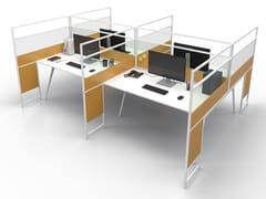 Pannello divisorio da scrivania in alluminio e vetroCARING P016 A - ESTEL GROUP
