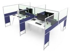 Pannello divisorio da scrivania in alluminio e vetroCARING P016 B - ESTEL GROUP