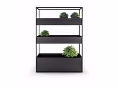 Fioriera in metallo CARL PLANTERS 1400 3 BOX -