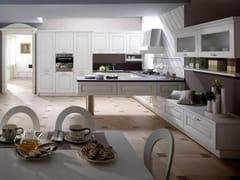 Cucina componibile in frassino con penisolaCARMEN | Cucina con penisola - GF FLORITELLI