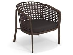 Poltrona lounge in alluminio e corda ad intreccio quadratoCAROUSEL 1217 | Poltrona - EMU GROUP