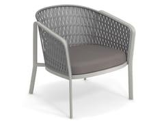 Poltrona lounge in alluminio e corda piattaCAROUSEL 1218 | Poltrona - EMU GROUP