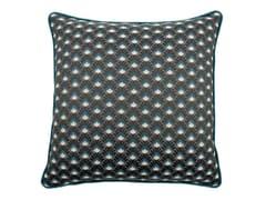 Cuscino a motivi quadrato in cotoneCARRÈ 036-21 - L'OPIFICIO