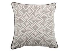 Cuscino quadrato in cotone a motivi geometriciCARRÈ 312-16 - L'OPIFICIO
