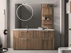 Mobile lavabo da terra singolo con cassetti CARTABIANCA | Mobile lavabo da terra - Cartabianca