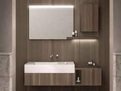 Mobile lavabo sospeso in laminato con specchio CARTABIANCA | Mobile lavabo sospeso - Cartabianca