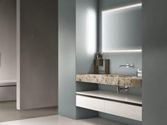 Mobile lavabo laccato con cassetti con specchio CARTABIANCA | Mobile lavabo con cassetti - Cartabianca
