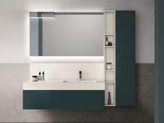 Mobile lavabo laccato con armadio con specchio CARTABIANCA | Mobile lavabo laccato - Cartabianca
