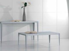 Tavolino rettangolare in marmo di Carrara CARTESIO | Tavolino - Contemporary