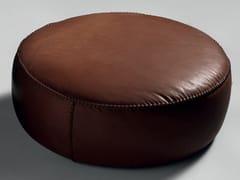 Pouf rotondo in pelleCASABLANCA | Pouf rotondo - BLACK TIE