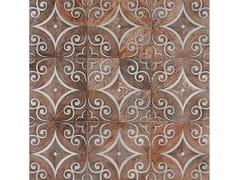 Palazzo Morelli, CASSIOPEA Pavimento/rivestimento in wengè e acciaio satinato