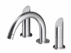 Miscelatore per lavabo a 3 fori da piano in acciaio inox CB203 | Miscelatore per lavabo - Contemporary