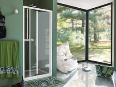 Box doccia a nicchia in vetro temperato con porta a soffietto CEE ART | Box doccia con porta a soffietto - Classica