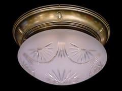 Lampada da soffitto a luce diretta fatta a mano in ottone GYOR | Lampada da soffitto - Gyor