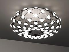 Lampada da soffitto a LED in policarbonato e acciaioMESH | Lampada da soffitto - LUCEPLAN