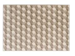 Tappeto in fibra sintetica a motivi geometriciCEMENTINO - CALLIGARIS