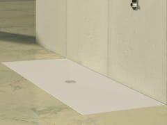 Piatto doccia filo pavimento rettangolare CENTER BIANCO - Area Stone