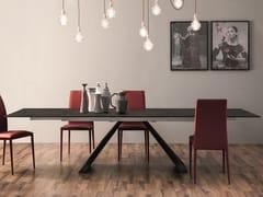 Tavolo allungabile in ceramica con base in metalloVENTAGLIO | Tavolo in ceramica - TONIN CASA