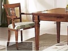 Sedia in legno massello con schienale apertoCESARE   Sedia con braccioli - ARVESTYLE