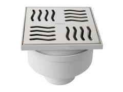 Chiusino sifonato in ABS grigio con scarico verticaleCHABSV1050IN - FIRST CORPORATION