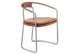 Sedia in acciaio con braccioliGEOMETRIC | Sedia - BASSAMFELLOWS