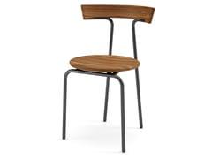 Sedia impilabile in legno con schienale apertoT.CHAIR | Sedia - CIDER