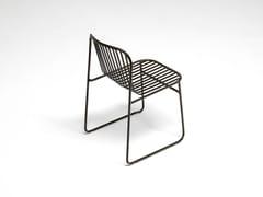 Sedia da giardino in acciaio RIVIERA | Sedia - Riviera
