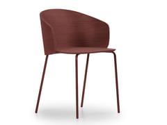 Sedia in acciaio e legno con braccioliNOT WOOD | Sedia - TRUE DESIGN
