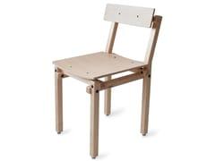 Sedia in frassino con schienale apertoFAIR AND SQUARE | Sedia - ASKIA